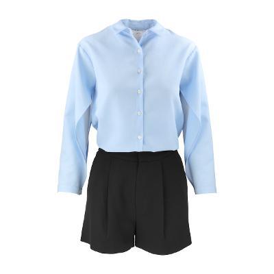 Right Route - boxy shirt & Mango - belt short pants black